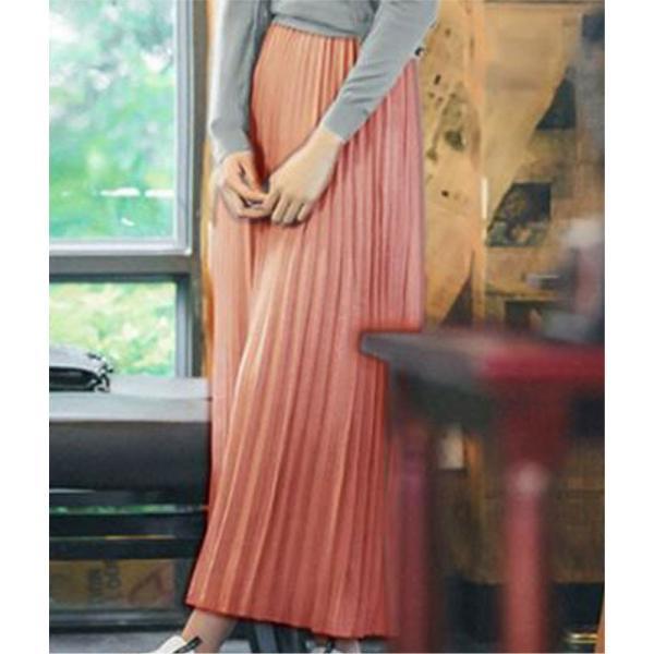 スカート イエロー 春 夏 ロングスカート プリーツ プリーツスカート  メール便送料無料|wc-y|13