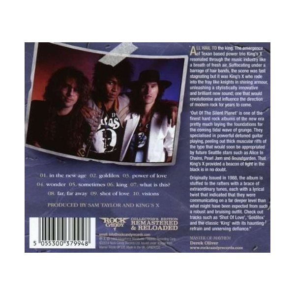 King's X - Out of the Silent Planet (CD) wdplace 02