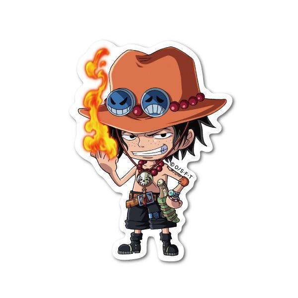 ワンピース SDキャラ エース LCS517 ステッカー キャラクター ライセンス商品 グッズ ONE PIECE ジャンプ マンガ アニメ