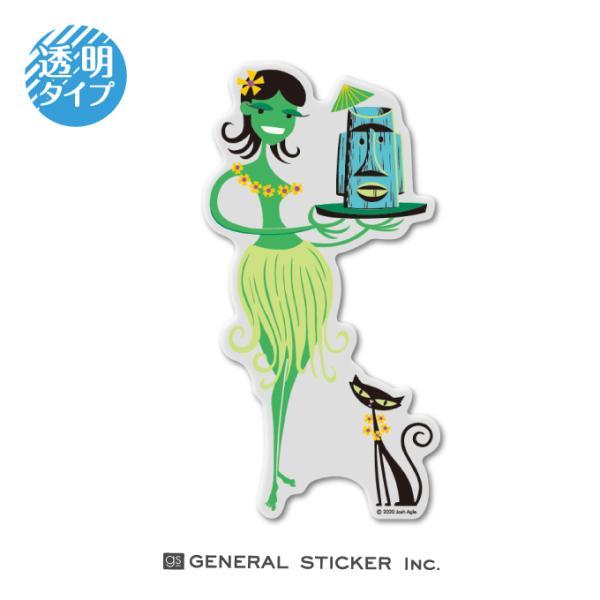 SHAG 透明 HURA GIRL&CAT Lサイズ シャグ アート アーティスト ステッカー イラスト ライセンス商品 SHAG022 gs 公式グッズ