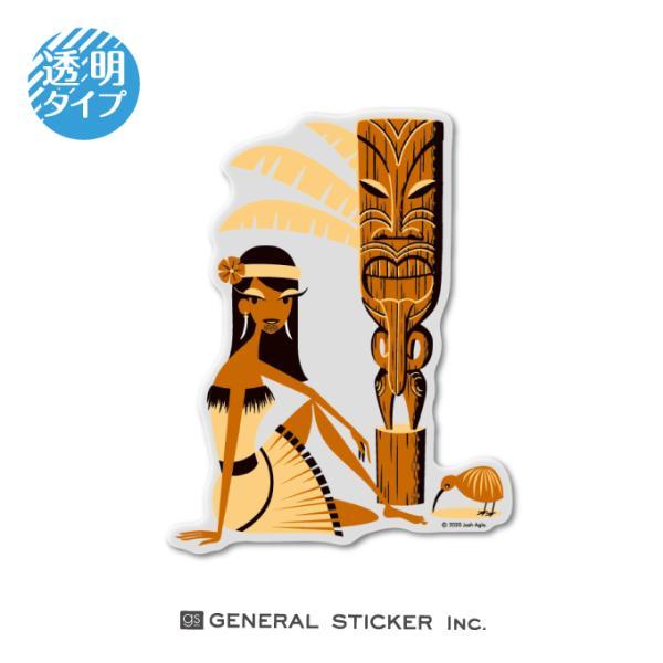 SHAG 透明 NEWZEALAND GRIL Lサイズ シャグ アート アーティスト ステッカー イラスト ライセンス商品 SHAG026 gs 公式グッズ