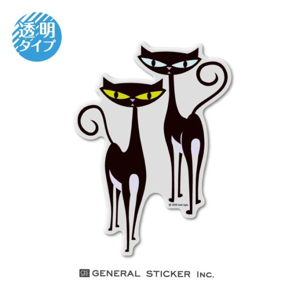 SHAG 透明 CAT TWINS Lサイズ シャグ アート アーティスト ステッカー イラスト ライセンス商品 SHAG029 gs 公式グッズ