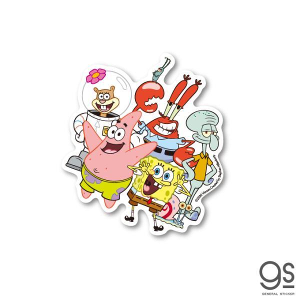 スポンジ・ボブ 集合 キャラクターステッカー アメリカ アニメ SpongeBob ダイカットステッカー SPO008 gs 公式グッズ