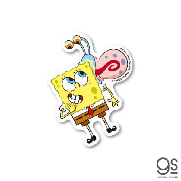 スポンジ・ボブ ミニステッカー ボブ&ゲイリー キャラクターステッカー アメリカ アニメ SpongeBob SPO024 gs 公式グッズ