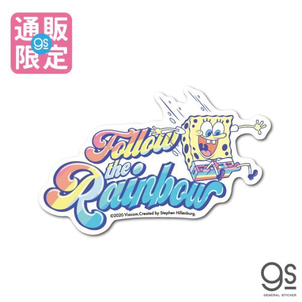 【通販限定デザイン】 スポンジ・ボブ Follow the Rainbow キャラクターステッカー アメリカ アニメ SpongeBob サイト限定商品 SPO031 gs 公式グッズ