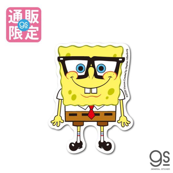【通販限定デザイン】 スポンジ・ボブ ボブ 眼鏡ver. キャラクターステッカー アメリカ アニメ SpongeBob サイト限定商品 SPO032 gs 公式グッズ