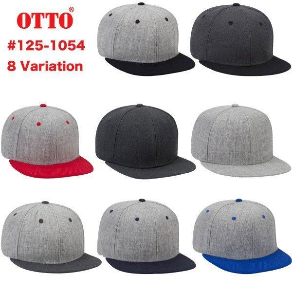 OTTOオットーキャップウールブレンドフラットバイザースナップバック米国ブランド8色Style#:125-1054