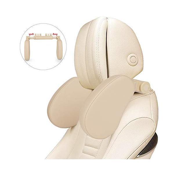 【進化版車用首枕】ネックパッド 車 ネッククッション ヘッドレスト カーシート枕 車中泊 バー適用幅8cm-17cm 低|web-mark