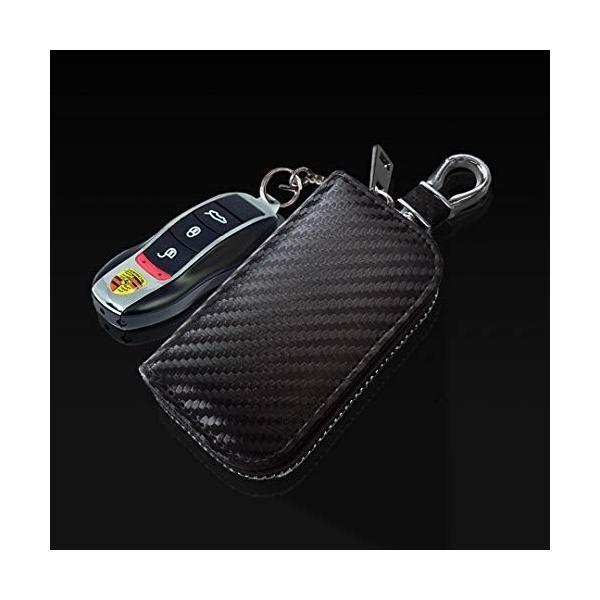 スマートキーケース リレーアタック防止用 電波遮断ポーチ 電波遮断ケース スマートキー用 キーホルダー メン|web-mark|05