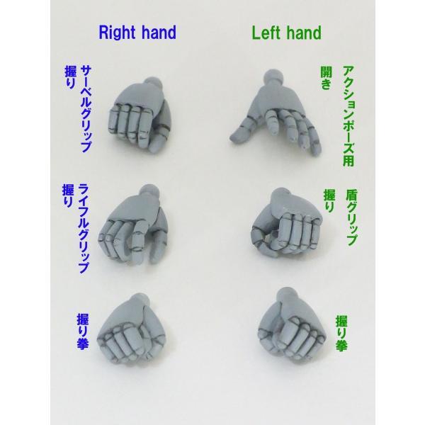 13cmサイズロボット用ハンド・丸指(1)(グレー)|web-shop-ourtreasure|02