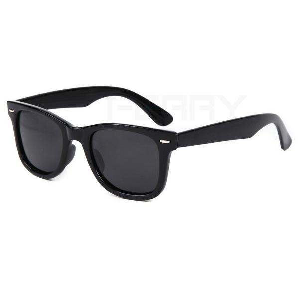FERRY 偏光レンズ ウェリントン サングラス ポーチ&クロス セット ブラック ユニセックス メンズ レディース 眼鏡 メガネ 釣り ドライブ UVカット|web-store|02