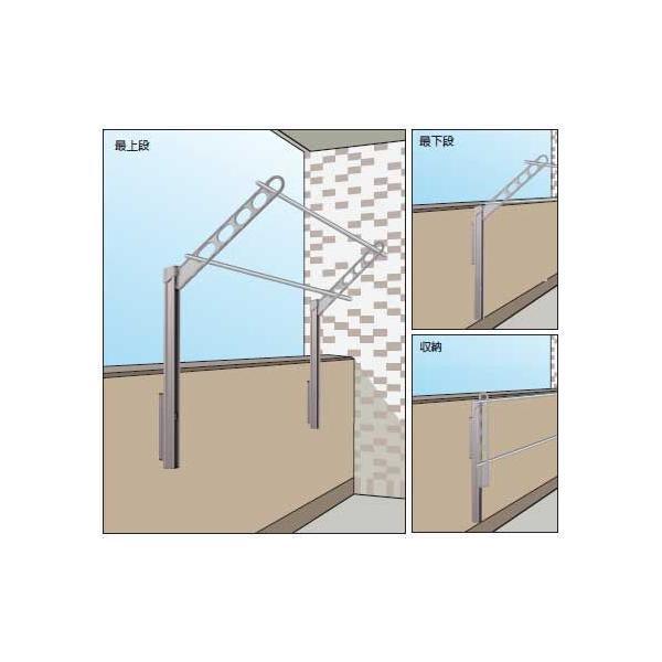 ベランダ用物干し金物 GP型 上下スライド式ロングタイプ|web-takigawa|03