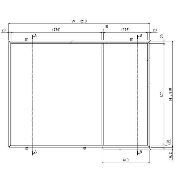 掲示板とホワイトボードがいっしょになった壁掛タイプのコンビボード 1210mm×910mm|web-takigawa|02