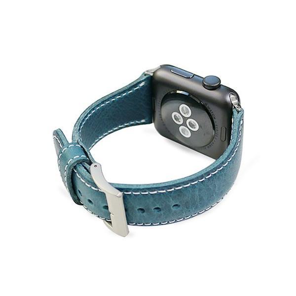 SLG Design エスエルジーデザイン Apple Watch 42mm用バンド バダラッシワックスレザー ブルー SD11726AW