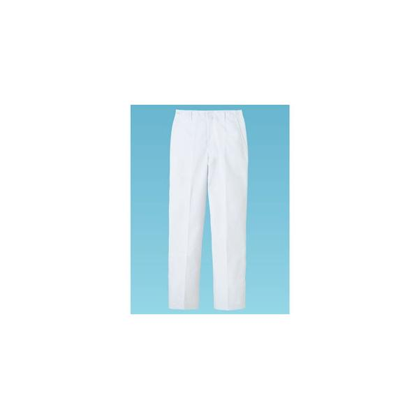 パンツ 男性用 ホワイト 白 95cm FH-1116 SZB1609 【サーヴォ サンペックスイスト 業務用 ユニフォーム スラックス ズボン 制服】