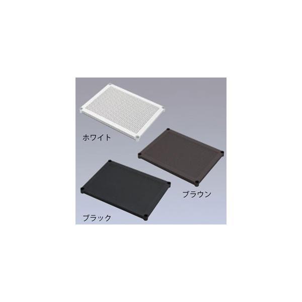 アイリスオーヤマ メタルラックパンチング棚板 ブラック MR-61TP
