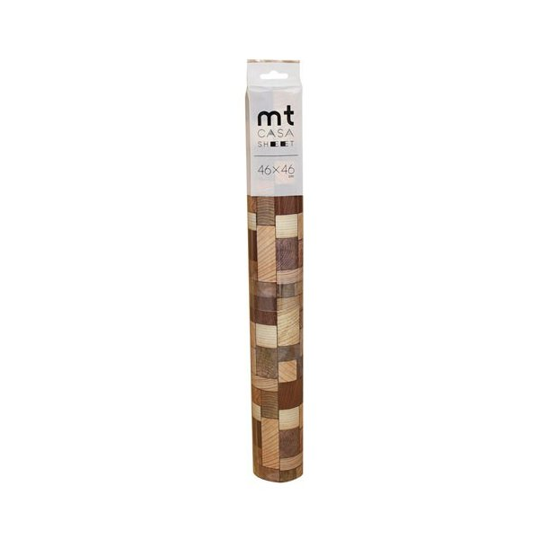 カモ井加工紙 カモイ mt CASA マスキングテープ SHEET 壁用 木の断面 大 460mm角 3枚パック MT03WS4605