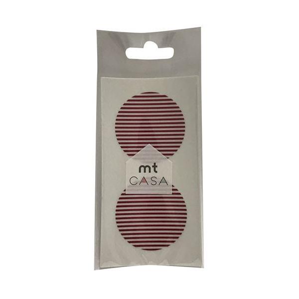 カモ井加工紙 カモイ mt CASA マスキングテープ Seal ボーダー・いちご φ50mm×10枚パック MTCDS026