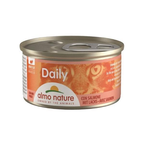 アルモネイチャー デイリーメニュー 缶 サーモン入りお肉のムース 85g ◇◇