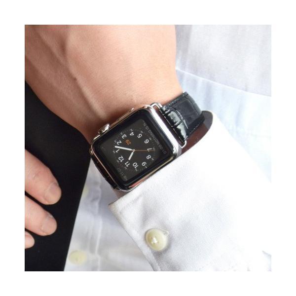 GAZE ゲイズ Apple Watch 42mm用バンド Black Croco GZ0477AW