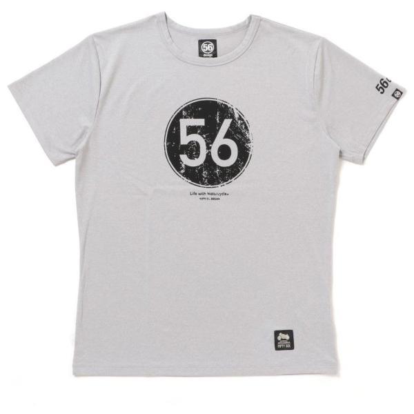 56design 56design:56デザイン XYLITOL COOL&DRY T-SHIRT CIRCLE LOGO KF [キシリトール クール&ドライ Tシャツ サークルロゴ] サイズ:S