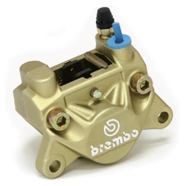 Brembo Brembo:ブレンボ リアブレーキキャリパー 旧カニ P2 32 84mm ゴールド【UPGRADEキャンペーン】