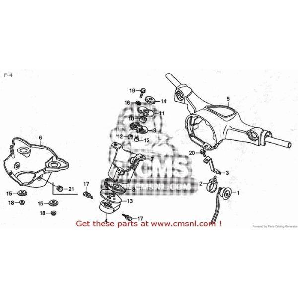 CMS シーエムエス HANDLE COMP*Y141* (JDM) HONDA C50CM C50D C50S C50ST 2005 (5) JAPAN AA01-150 (JDM)