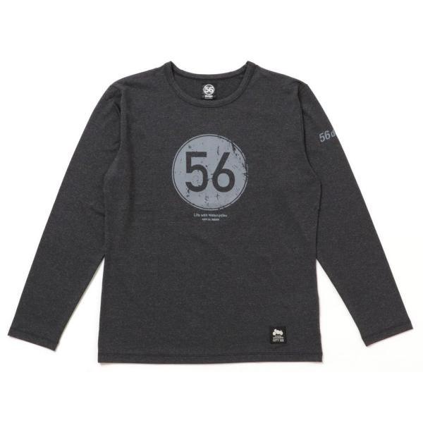 56design 56design:56デザイン XYLITOL COOL&DRY CIRCLE LOGO LONG T-SHIRTKF [キシリトール クール&ドライ ロゴ ロングTシャツ] サイズ:L