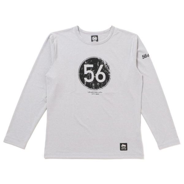 56design 56design:56デザイン XYLITOL COOL&DRY CIRCLE LOGO LONG T-SHIRTKF [キシリトール クール&ドライ ロゴ ロングTシャツ] サイズ:S