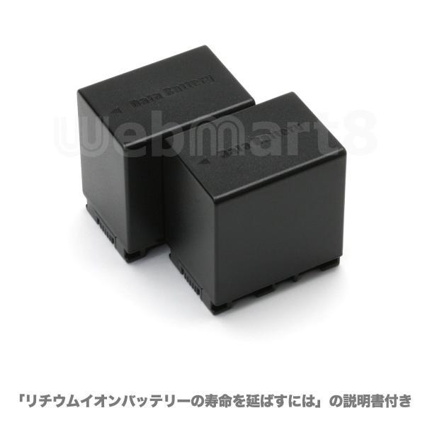 ビクター BN-VG138 互換バッテリー 2個セット