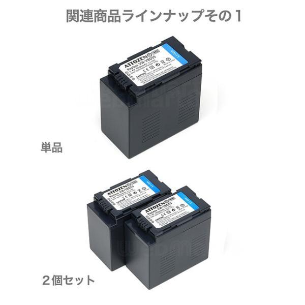 パナソニック VW-VBD55 互換バッテリー 2個セット デュアル充電器付き