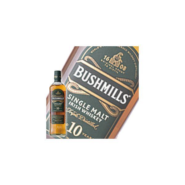 業務店御用達 誕生日 ウイスキー ブッシュミルズ シングルモルト 10年:700ml 洋酒 Whisky (37-0)
