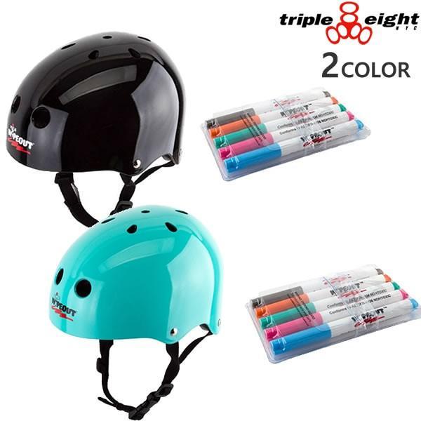 トリプルエイト ヘルメット 子供用 WIPEOUT SK8 DAY ERASE(49-52cm)Triple8 キッズ ジュニア 自転車・インライン・スケートボード ヘルメット
