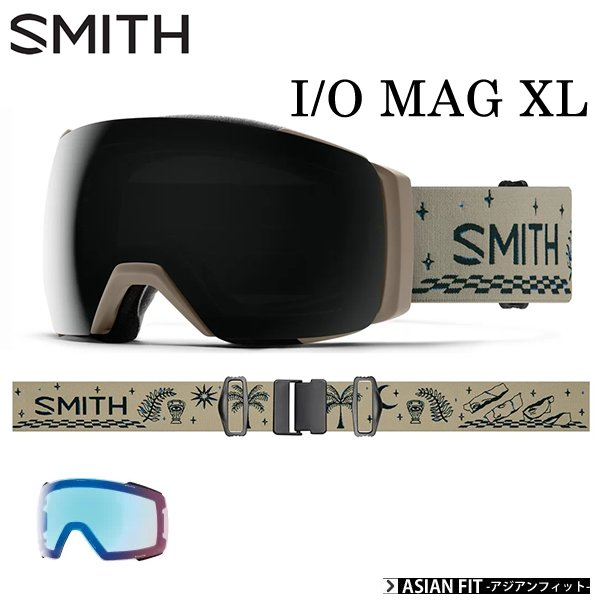 スミス ゴーグル  I/O MAG XL  / LIMESTONE VIBES  アイオーマグXL  クロマポップ 眼鏡対応 Smith (21-22 2022)アジアンフィット