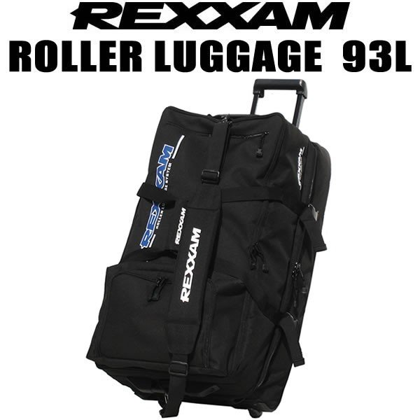 REXXAM キャリーバッグ ローラーラゲージ 93L キャスタ−付  レクザム 大型ローラーバッグ キャスターバッグ