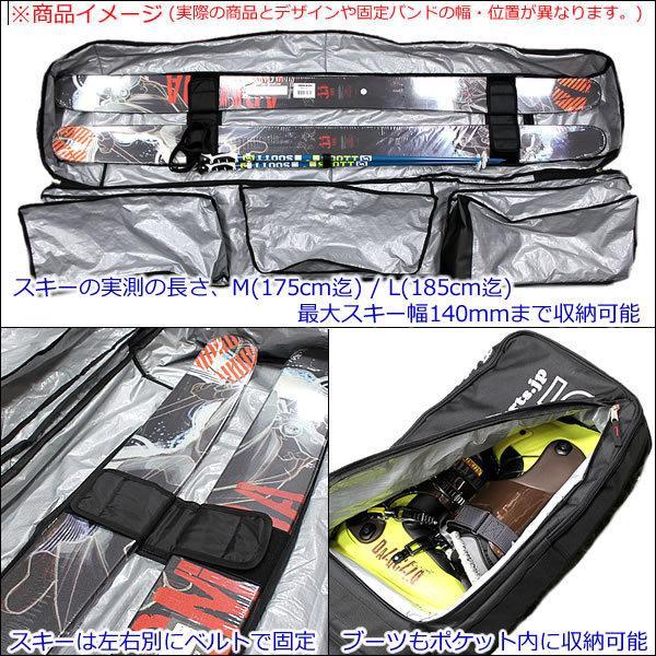 Websports オリジナル キャスター付 箱型 オールインワン ケース ALL IN ONE 175  ブラック  3ポケ スキー&スノーボード用品1式収納可能  スキー・ボードバッグ|websports|04