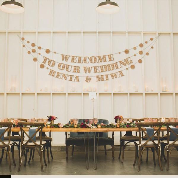 レターバナーガーランド03_お花フォント:DIY|weddingdecor|03