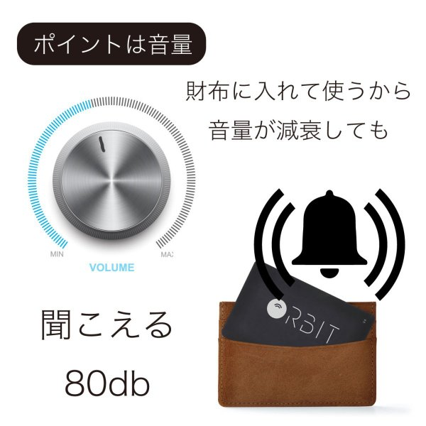 スマートタグ 紛失防止タグ 厚さわずか1.28ミリ 充電式 カード型 FINDORBIT ファインドビット ORBIT CARD 財布 忘れ物防止 置き忘れ アラーム GPS 紛失場所記録 wedge 10
