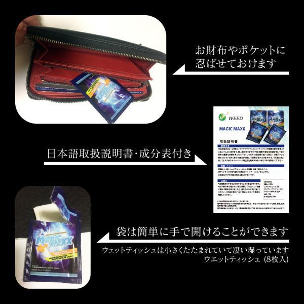 マジックマックス magic maxx ウェットティッシュ 早漏防止 お試し 4枚 日本語取説付|weedon|03