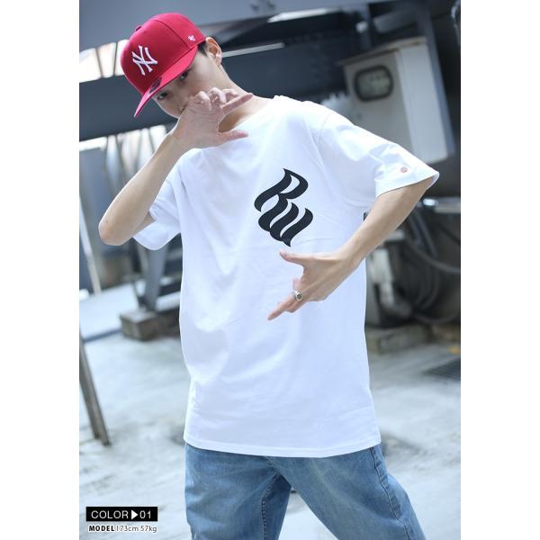 ロカウェア ROCAWEAR Tシャツ 半袖 メンズ レディース 大きいサイズ b系 かっこいい おしゃれ ナンバー ビッグシルエット アメカジ ダンス Bボーイ ギフト|weekindenim|03