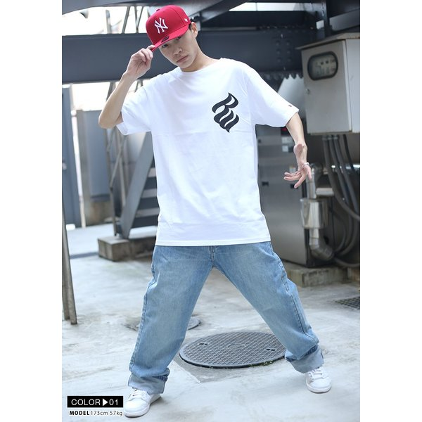 ロカウェア ROCAWEAR Tシャツ 半袖 メンズ レディース 大きいサイズ b系 かっこいい おしゃれ ナンバー ビッグシルエット アメカジ ダンス Bボーイ ギフト|weekindenim|04