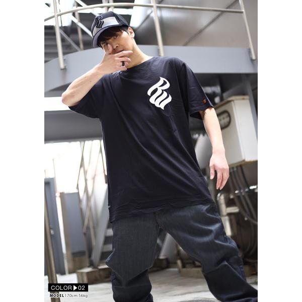 ロカウェア ROCAWEAR Tシャツ 半袖 メンズ レディース 大きいサイズ b系 かっこいい おしゃれ ナンバー ビッグシルエット アメカジ ダンス Bボーイ ギフト|weekindenim|07