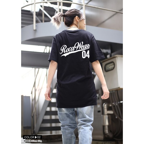 ロカウェア ROCAWEAR Tシャツ 半袖 メンズ レディース 大きいサイズ b系 かっこいい おしゃれ ナンバー ビッグシルエット アメカジ ダンス Bボーイ ギフト|weekindenim|10