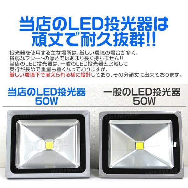 LED投光器 10W 100W相当 防水 LEDライト 作業灯 防犯 ワークライト 看板照明 昼光色 電球色 一年保証 weimall 14