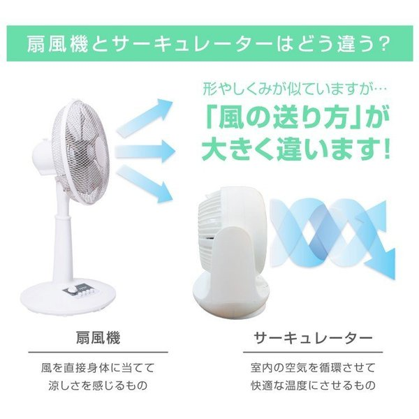 サーキュレーター 静音 14畳 コンパクト おしゃれ 首振り 扇風機 部屋干し|weimall|05