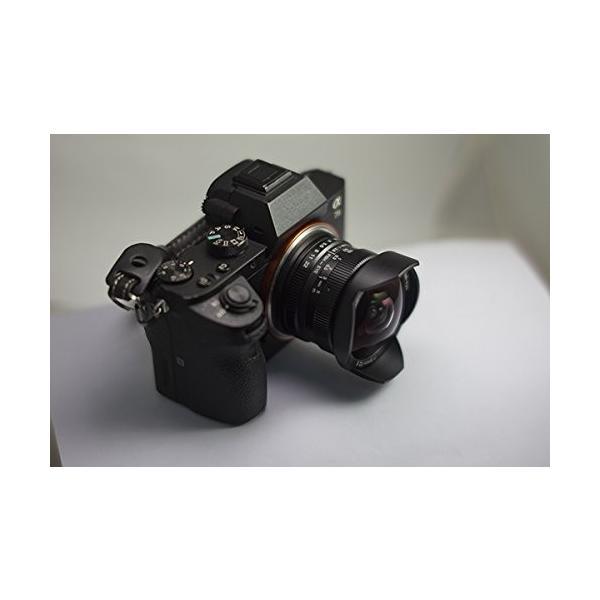 7artisans 7.5mm F2.8 APS-C Fujifilmカメラ用魚眼レンズ、レンズフード取り外し可能 レンズキャップ付き - ブラック