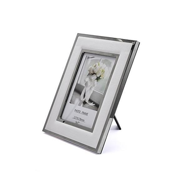 白い写真の額縁、写真を表示するために作ら5×7インチ - 白