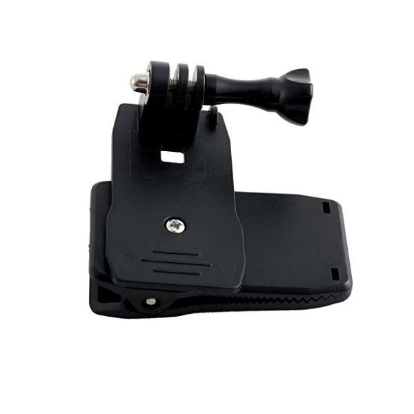 BlueBeach GoPro用高品質 バックパッ クリップ マウント 360°回転式