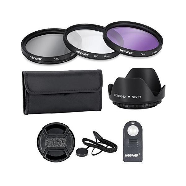 Neewer 52mmプロレンズフィルターアクセサリーキット フィルターキット(UV, CPL, FLD)+フィルターケース+花形レンズ|wejectstore