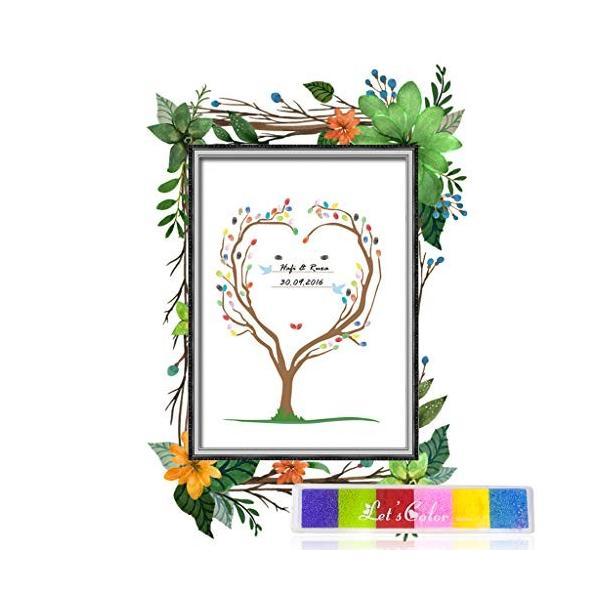 Tumao ウェディングツリー ゲストブック 指紋ツリー DIY ウェルカムボード 結婚式 キャンバス アートパネル イン wejectstore